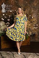 Літнє плаття великі розміри 48-58, фото 1