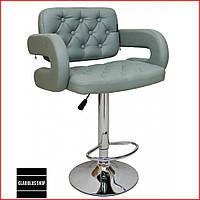 Барный стул Bonro B-823А (серый) Стул-хокер Кожаный с Подлокотниками Барное кресло для Бара Кафе Ресторана