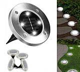 Уличный ночной фонарь LED светильник для сада на солнечной батарее DISKLIGHTS 435, фото 7