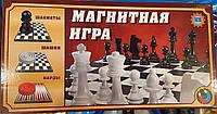 Магнитная игра 3 в 1 Шахматы, шашки, нарды Metr plus 9831