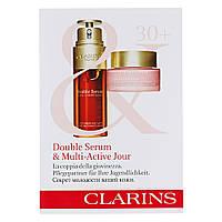 "Набор пробников для ухода за лицом ""30+"" Clarins Double Serum & Multi-Active Jour (3380810409017)"