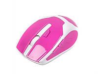 Мышь беспроводная maxxtro mr-317-r usb бело-розовая