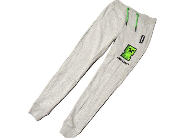 Спортивные брюки Minecraft Creeper серые