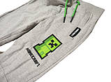 Спортивные брюки Minecraft Creeper серые, фото 2