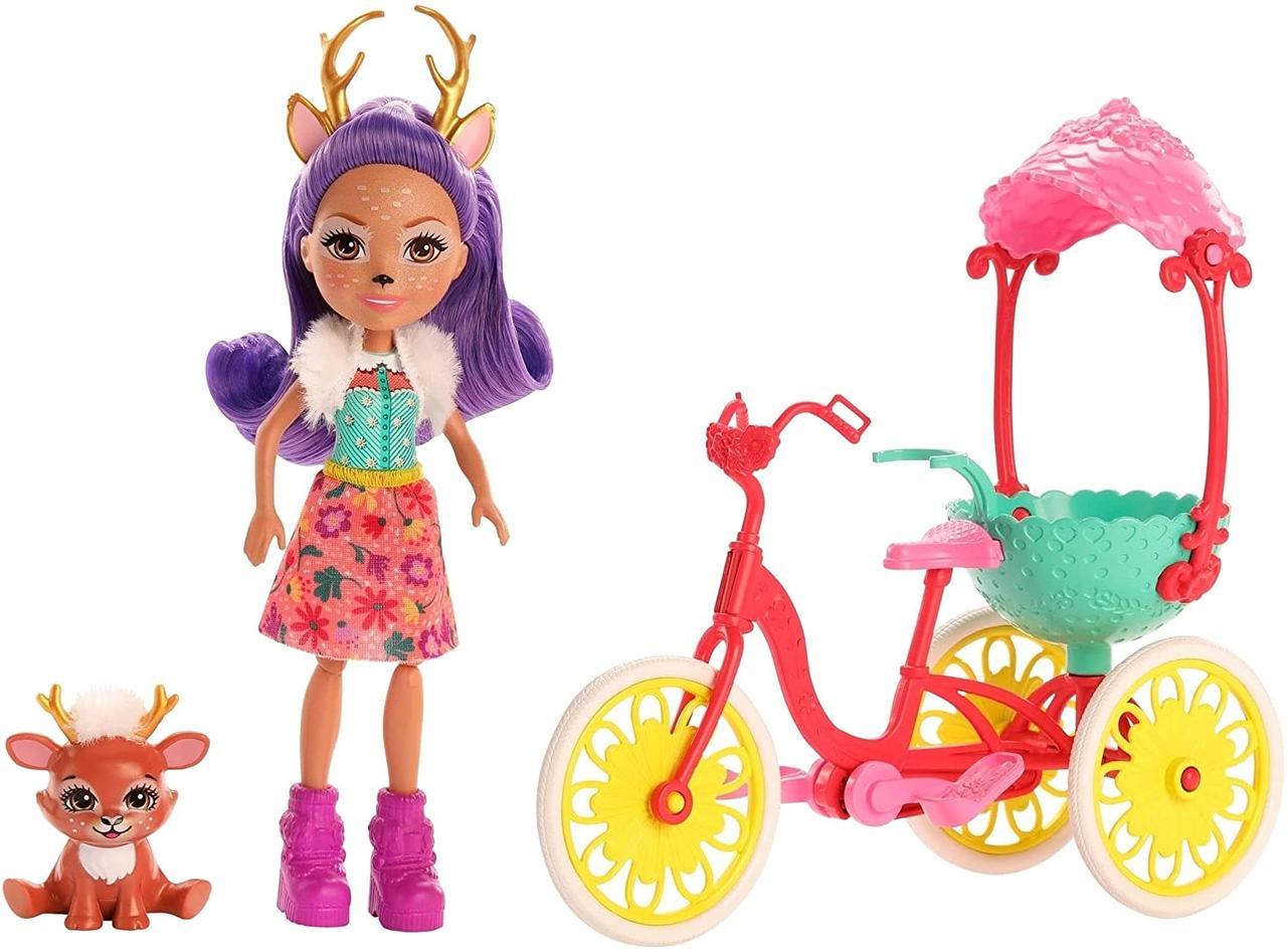 Энчантималс Друзі на велосипеді Данесса Оленни і Спринт Enchantimals