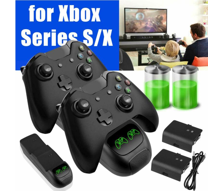 Док-станція KJH + 2 акумулятора для геймпадів Xbox Series X/S