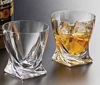 Набор стаканов для виски Bohemia Quadro 340мл (6шт)