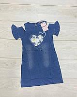 Платье для девочек (джинсовый трикотаж) Grace 140/146 рост