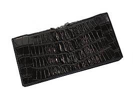 Гаманець зі шкіри крокодила Ekzotic Leather Чорний (cw11_2)