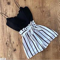 Жіночий літній костюм топ і шорти