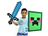 Пиксельный набор Рыцарькрафт Алмазный меч Зеленый щит Крипер Minecraft KnightCraft Set