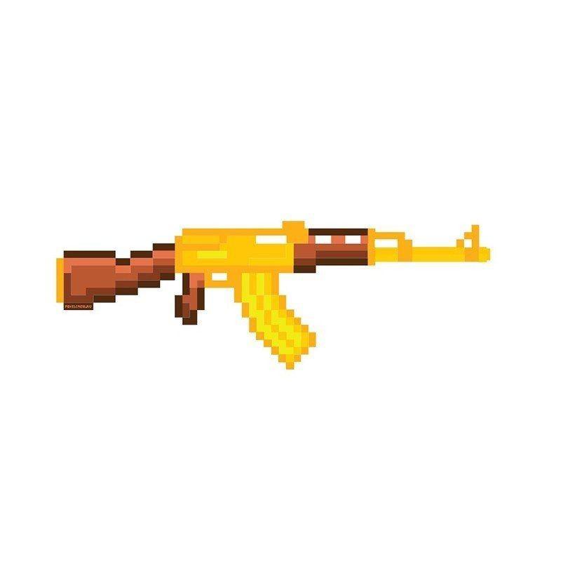Золотой Автомат Калашникова AK-47 Майнкрафт (CS GO)