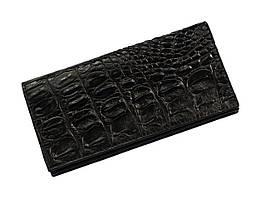 Гаманець зі шкіри крокодила Ekzotic Leather Чорний (cw11_4)