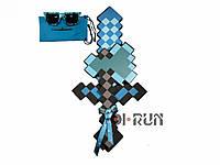Пиксельный Алмазный набор оружия Майнкрафт (Меч Топор Очки)