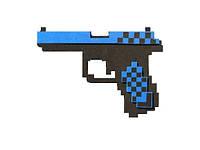 Пиксельный пистолет Глок алмазный Minecraft Glock