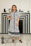 Жіноче літнє плаття-сорочка р. 48-58, фото 1