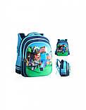 Рюкзак шкільний ортопедичний Minecraft Блакитний 42 см, фото 2
