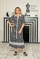 Женское летнее платье-рубашка р.48-58, фото 1