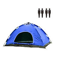 Палатка АВТОМАТ 4-х местная (синяя, зеленая.камуфляж)
