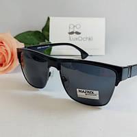 Стильные мужские солнцезащитные поляризованные очки Matrix модель Clubmaster