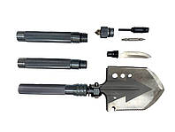 Лопата багатофункціональна туристична Milcraft Сталь/алюміній Сіра   Мотика, ніж-пила, гайковер, сокира