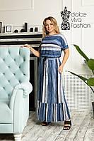Стильне літнє плаття великі розміри 46-58, фото 1