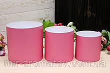 Набор из трех круглых коробок для цветов без крышек №1
