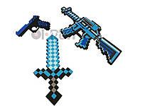 Пиксельный алмазный мининабор Майнкрафт Minecraft Diamond miniSet