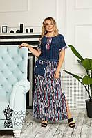 Стильное летнее платье большие размеры 46-58, фото 1