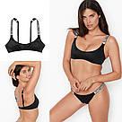 Купальник Victoria's Secret S со стразами 🤩 раздельный, чёрный, фото 2