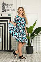Летнее платье большие размеры 46-58, фото 1