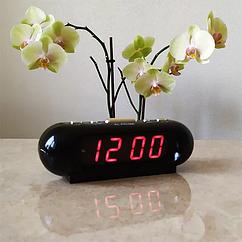 Настільний годинник VST-716 з будильником Червоний циферблат