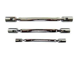 Ключ торцовый шарнирный двухсторонний 14х15мм