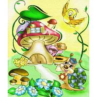 Картина раскраска по холсту Волшебный дом 25х30см идейка 7111/2 краски в комплекте
