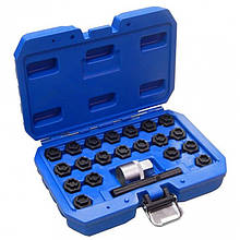 Набір вставок для секретних колісних болтів BMW, 22пр.(розмірний номер 41-60), в кейсі