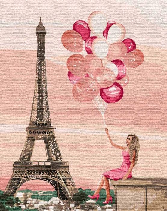 Картина рисование по номерам Идейка Лиловые краски париже KH4761 40х50 см Люди на картине набор для росписи