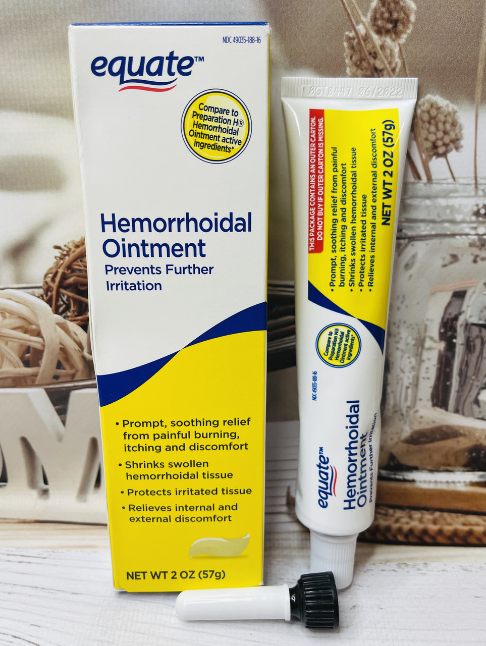 Лечебная мазь от геммороя Equate Hemorrhoidal Ointment