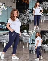 Жіночі весняні брюки прямі батал новинка 2021