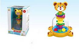 Детская развивающая юла Тигренок Sunlinе с шариками и колечками, для детей от 6 месяцев