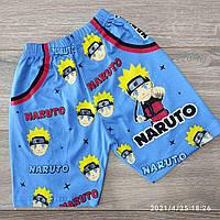 Шорты детские трикотажные для мальчика Naruto размер 5-8 лет, цвет уточняйте при заказе, фото 1