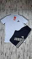 Летний костюм футболка и шорты Adidas Адидас. Летний спортивный костюм шорты и футболка Adidas Адидас