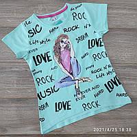 Підліткова трикотажна футболка для дівчинки Love 9-12 років, колір уточнюйте при замовленні, фото 1