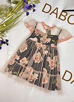 Дитяча сукня із ткані святкова.