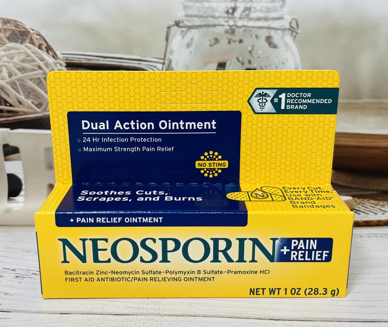 Антибактеріальна мазь Neosporin потрійний антибіотик і знеболювання
