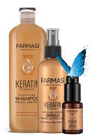 Шампунь с кератином, спрей термозащита и масло для кончиков волос Keratin Therapy