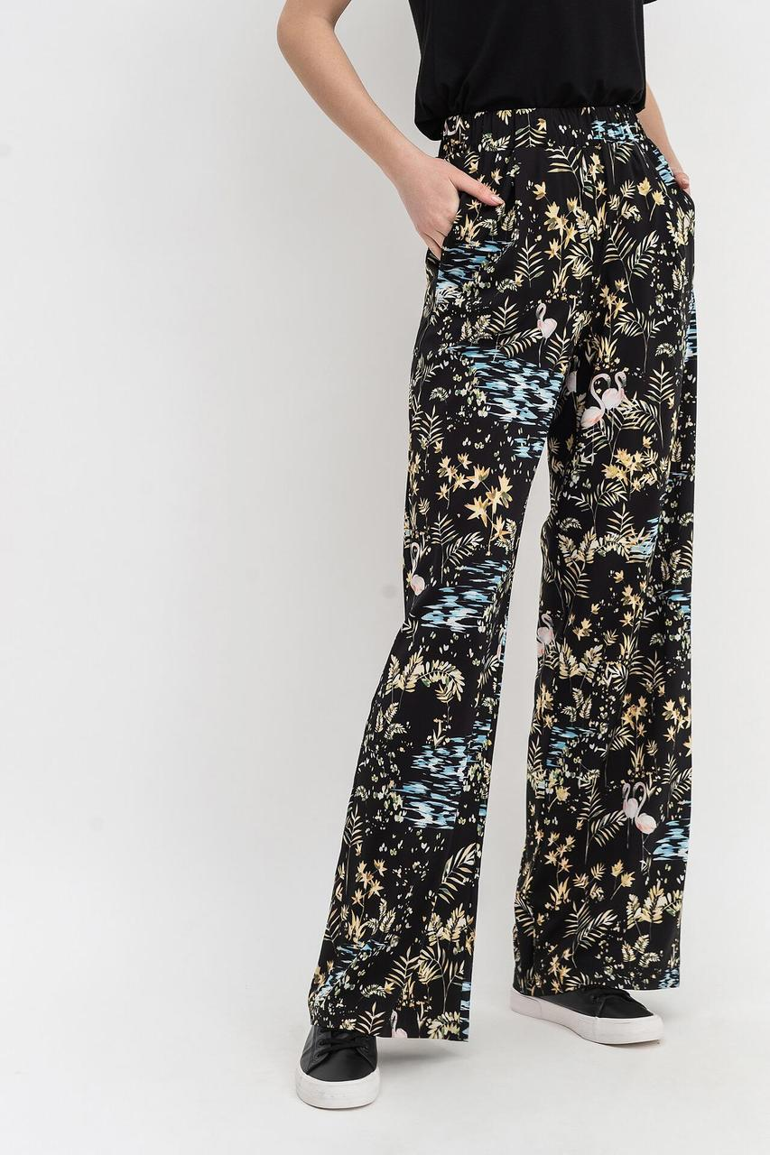 Легкі , хвилясті штани в стилі casual з шовковистою тканини в принт Lesya ЛЕРОС