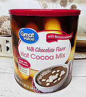 Гарячий шоколад з білим маршэллоу Great Value, 785грамм, фото 1