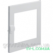 Двері білі з прозорим вікном VZ131N для 1-рядного щита Volta Hager