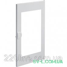Двері білі з прозорим вікном VZ132N для 2-рядного щита Volta Hager