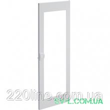 Двері білі з прозорим вікном VZ134N для 4-рядного щита Volta Hager